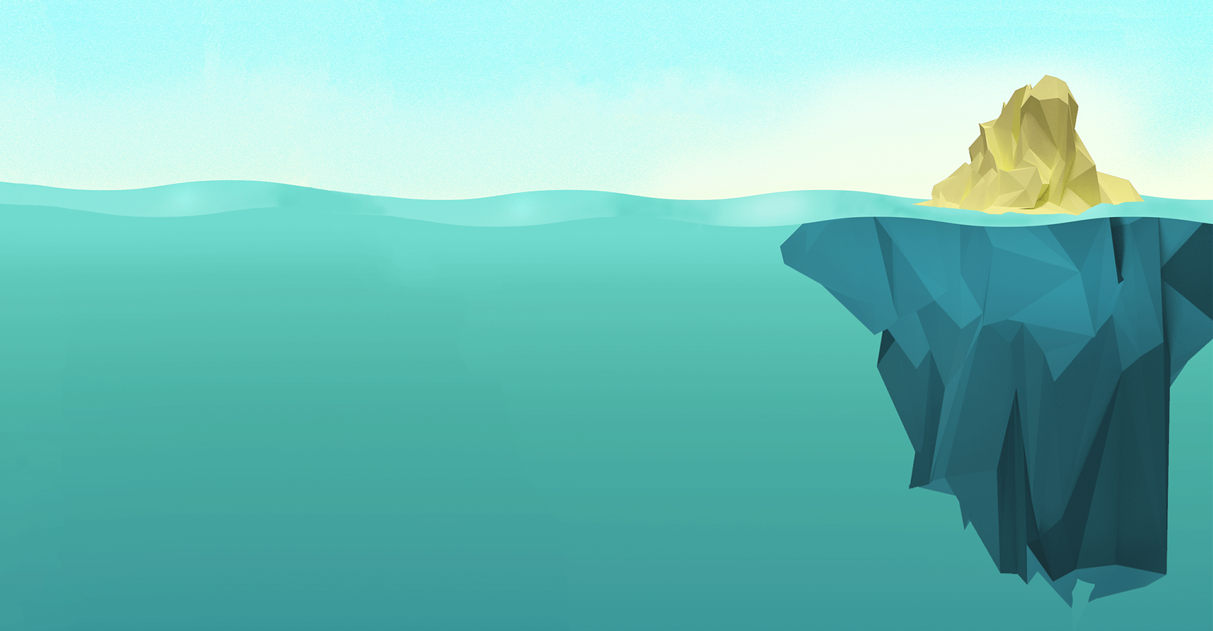 Iceberg en low poly